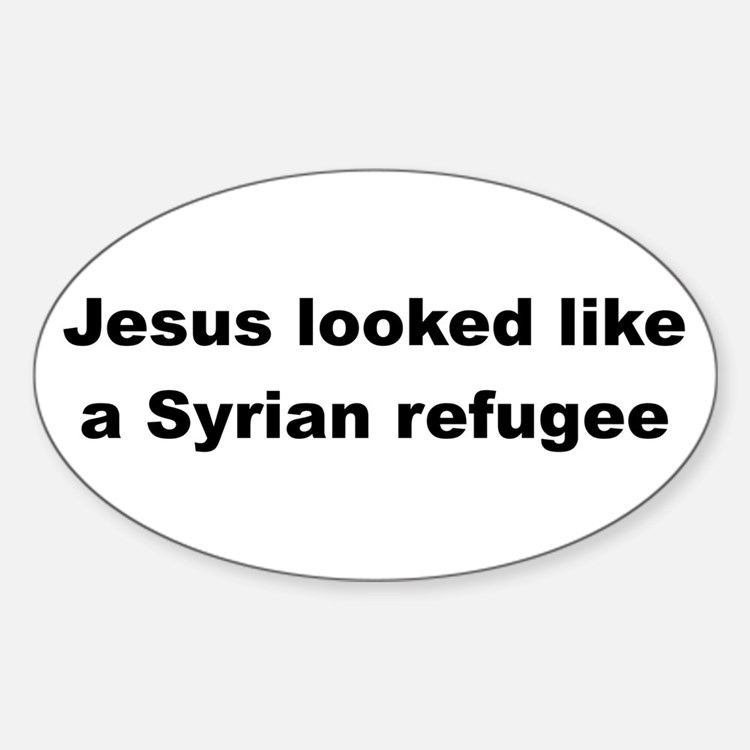 Jesus Syrian (Black) Decal