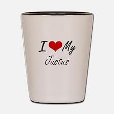 I Love My Justus Shot Glass