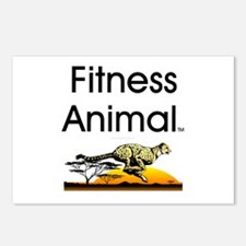 TOP Fitness Animal Postcards (Package of 8)