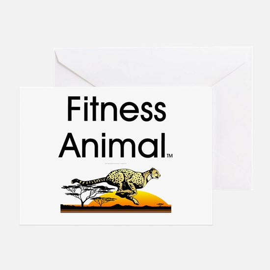 TOP Fitness Animal Greeting Card