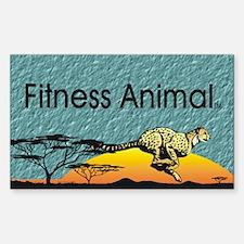 TOP Fitness Animal Sticker (Rectangle)