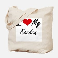 I Love My Kaeden Tote Bag