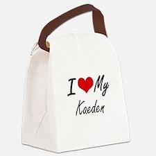 I Love My Kaeden Canvas Lunch Bag