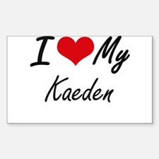 I Love My Kaeden Decal