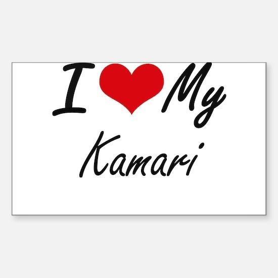 I Love My Kamari Decal