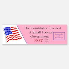 Constitution Small Government Bumper Bumper Bumper Sticker