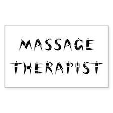 Massage Therapist Rectangle Decal