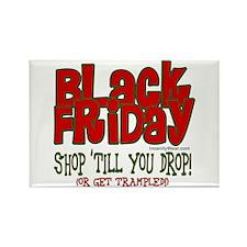 Black Friday Shop 'Till You Drop Rectangle Magnet