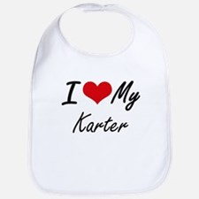I Love My Karter Bib