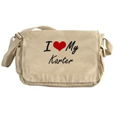 I Love My Karter Messenger Bag