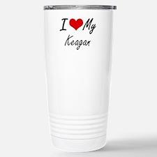 I Love My Keagan Stainless Steel Travel Mug