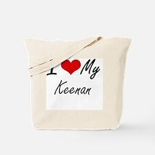 I Love My Keenan Tote Bag