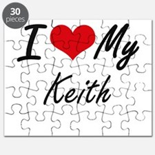 I Love My Keith Puzzle