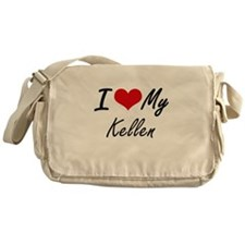 I Love My Kellen Messenger Bag