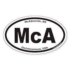 McA McAdenville North Carolina Euro Oval Decal