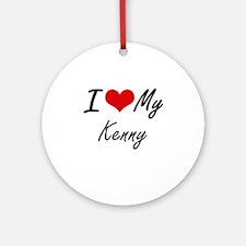 I Love My Kenny Round Ornament