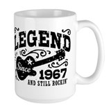 50th birthday guitar Large Mugs (15 oz)