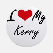 I Love My Kerry Round Ornament
