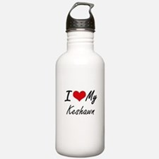 I Love My Keshawn Sports Water Bottle