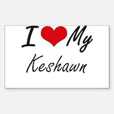 I Love My Keshawn Decal