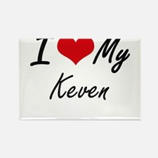 I Love My Keven Magnets