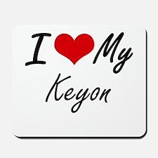 I Love My Keyon Mousepad