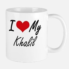 I Love My Khalil Mugs