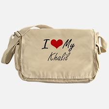 I Love My Khalil Messenger Bag