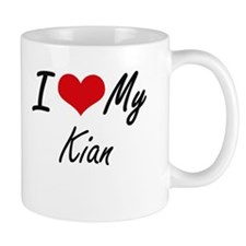 I Love My Kian Mugs