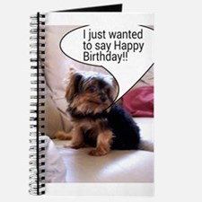 I just wanted to say Happy Birthday! ! Journal