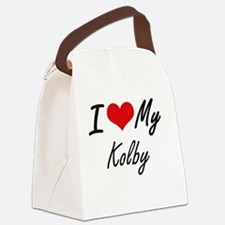 Funny Kolby Canvas Lunch Bag