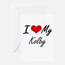 I Love My Kolby Greeting Cards
