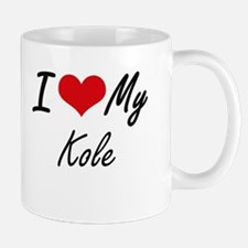 I Love My Kole Mugs