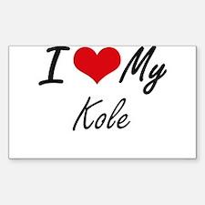 I Love My Kole Decal
