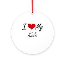I Love My Kole Round Ornament