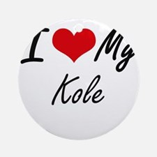 I Love My Kole Round Ornament