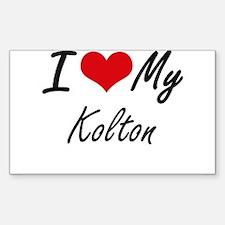I Love My Kolton Decal