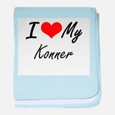 I Love My Konner baby blanket