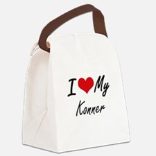 I Love My Konner Canvas Lunch Bag