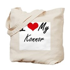 I Love My Konnor Tote Bag