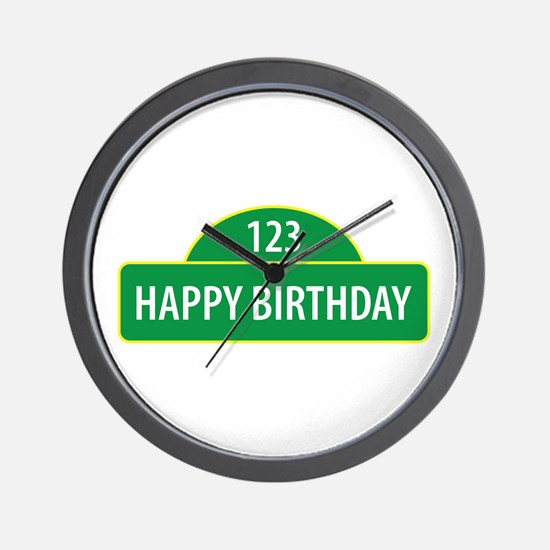 Happy Birthday Wall Clock