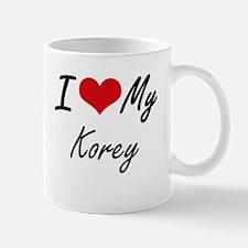 I Love My Korey Mugs