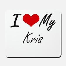 I Love My Kris Mousepad