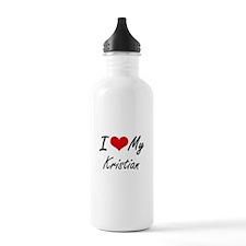 I Love My Kristian Water Bottle
