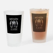 Funny Molon labe Drinking Glass