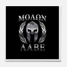 Cute Molon labe Tile Coaster