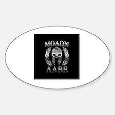 Cute Molon labe Sticker (Oval)