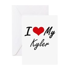 I Love My Kyler Greeting Cards