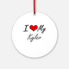 I Love My Kyler Round Ornament