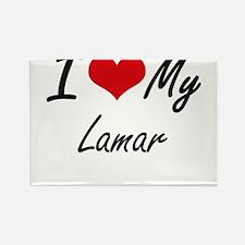 I Love My Lamar Magnets